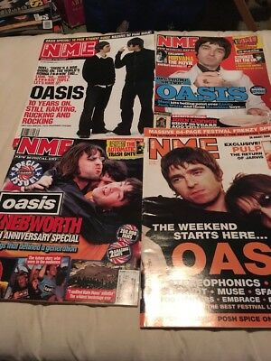 Oasis NME Magazine x 4 Liam Noel Gallagher Promo