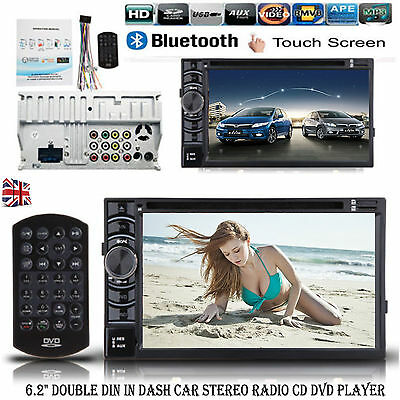 "6.2"" Double DIN In dash Car Stereo Radio HD CD DVD Player FM/USB/SD Bluetooth"