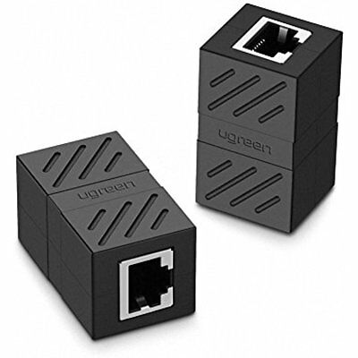 Ethernet Cable Extender Adapter Female To Rg45 Coupler 2 Pack Black Xmas GIFT