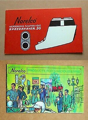 VINTAGE ORIGINAL 1960s NORELCO SPEEDSHAVER 30 (SC8010) MANUAL & PRODUCT BOOKLET