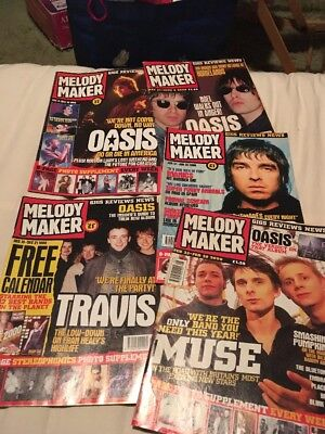 Oasis Melody Maker Magazines x 5 Liam Noel Gallagher Promo