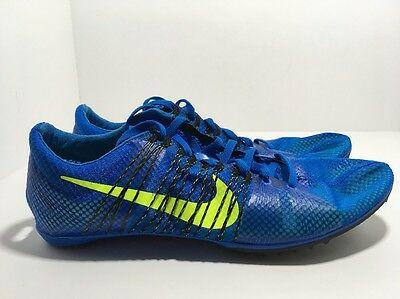d355531e9e2 Nike Zoom Victory 2 Blue Volt 555365-470 Men s Track and Field Spikes Size  12.5
