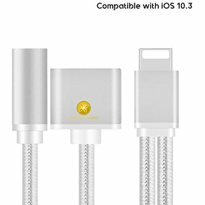 Iphone 7 Plus Lightning And Music Aux Adapter Splitter Plug Play Dual Xmas GIFT