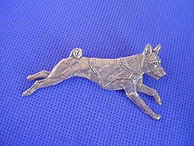 Basenji Pin Lure Coursing #40Db Pewter SightHound Dog Jewelry by Cindy A. Conter