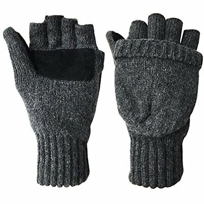 Winter Warm Wool Knitted Convertible Fingerless Gloves W/ Mitten Cover Xmas GIFT