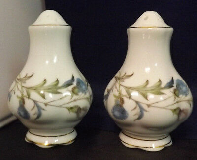 Royal Albert Brigadoon Pattern Salt and Pepper Shakers. Superb Condition.