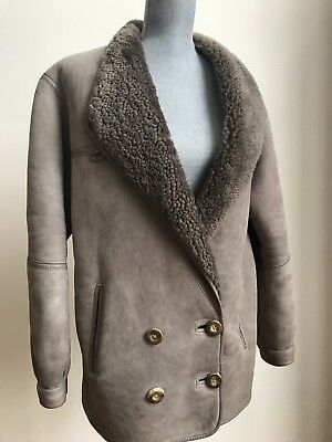 Attractive Women's Shearling Sheepskin Coat By Lakeland Made in England US Sz 10