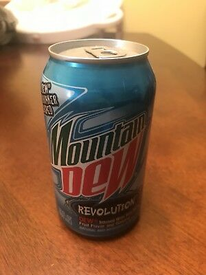 Rare Mountain Dew Revolution Limited Edition Unopened Can