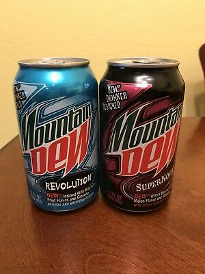 Rare Mountain Dew Revolution and Supernova Limited Edition Unopened Cans