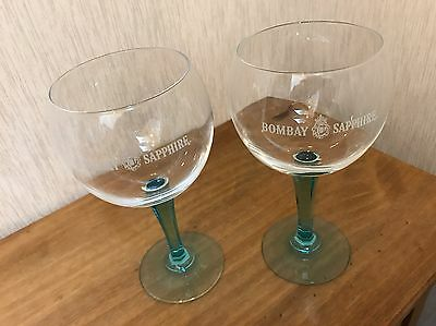 Bombay Sapphire Gin Glasses Set Of Two 2 White Red Wine Glass Goblet Gift