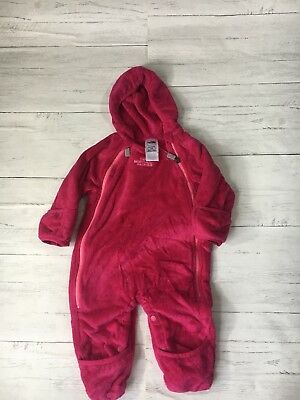 The North Face Pink Infant Girls Fleece Jumper Snowsuit Bunting One Piece 3-6M