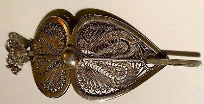 Beautiful Antique Large Solid Silver Victorian Hair Piece FreeUKP&P