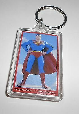 Super Man Graphic Key Chain Holder * from Metropolis, IL * 2 x 1 1/4 inches