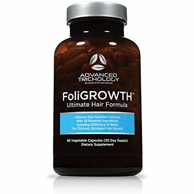 Foligrowth Hair Growth Vitamin Promotes Thickest Strongest 90 Caps Xmas GIFT