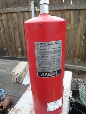Empty Used ANSUL R-102 Stainless Steel Fire Suppressant Tank 3.0 Gallon