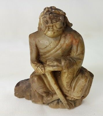 Old Chinese Soapstone Carved Figure