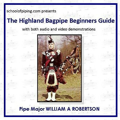 Beginners Highland Bagpipe Guide on CD - Rom