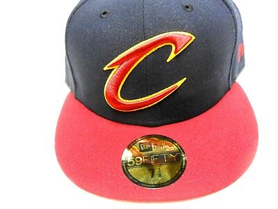 16f3fa9d3d0e04 New Era NBA Cleveland Cavaliers 59Fifty Fitted Hat Cap 7 3/8 Basketball  Lebron
