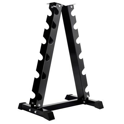 Vertical Dumbbell Storage Rack 6 Pair Hex Weight Steel Stand Home Gym Fitness
