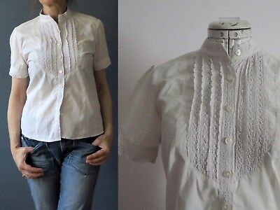 American Rag Ivory White Cotton Lace Bib Shirt Blouse Buy 3+ Items for FREE Post