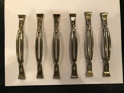 Antique Art Deco Brass Drawer Pull: Mid Century Modern 2 3/4""