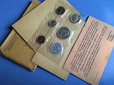1962 US Philadelphia Mint SILVER PROOF SET **COMPLETE WITH ENVELOPE AND INSERT**