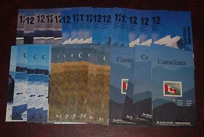 """Canada MNH lot of booklets, $180 Face value, self-adhesive postage, """"Stickers"""""""
