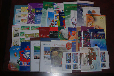 Canada MNH lot of booklets, $154.32 Face value, self-adhesive high value postage