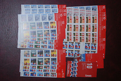Canada MNH lot of booklets, $103.58 Face value, self-adhesive small postage