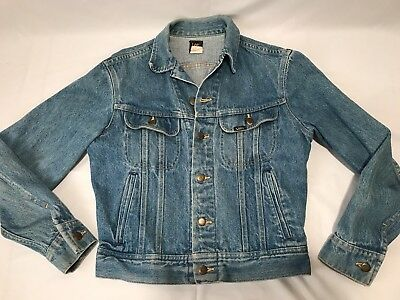 Vintage 1980s LEE RIDERS Jean Denim Jacket Women S/M / Men XS . Made in USA