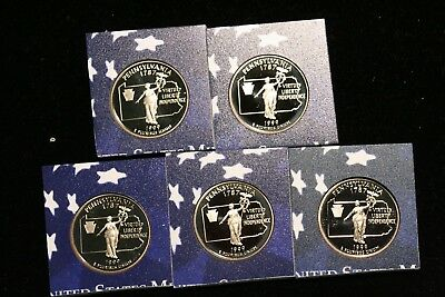 1999 S 25C Pennsylvania Proof 50 States Quarter **Free Shipping**