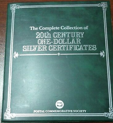 Complete Collection of 20th Century $1 Silver Certificates COMMEM Book