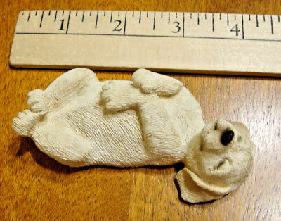 Vintage Sandicast Yellow Labrador retriever ceramic statue, collectable -