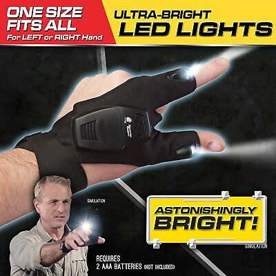 Atomic Beam Glove by BulbHead Adult One Size With Ultra-Bright Thumb And Pointer