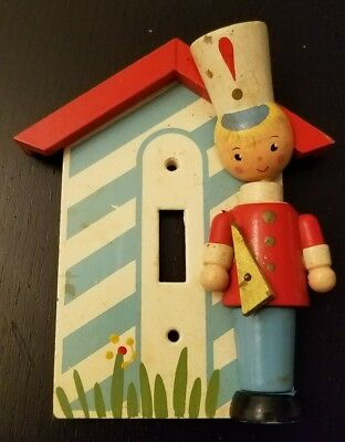 Vintage Irmi Disarmed Soldier Light Switch Cover Wooden