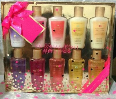 Victoria's Secret 10 Piece Lotion & Body Wash Set Pure Seduction, Love Spell,