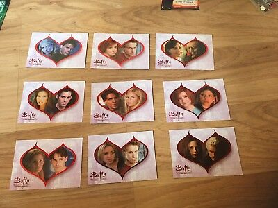 Buffy The Vampire Slayer - The Story so far Couples Cards Set Of 9