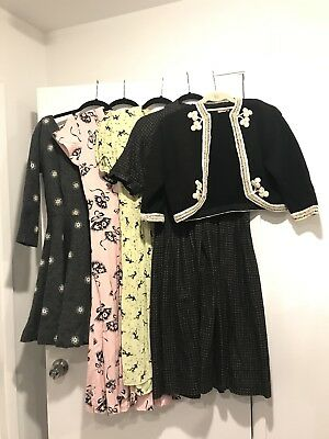 40s 50s 10pc Lot Of Clothes Novelty Dress