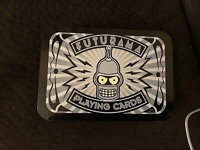 Futurama Playing Cards in Collectible metal Tin by Collectible Wizard