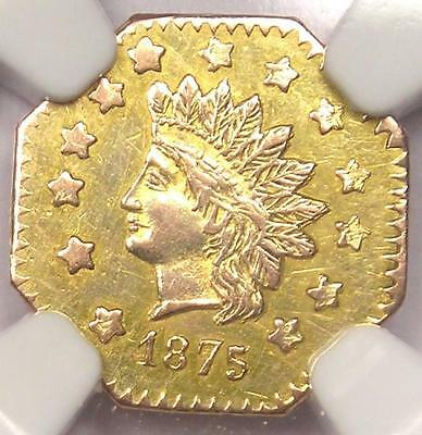 1875 Indian California Gold Dollar Coin $1 BG-1127 - NGC UNC Details (MS, BU)