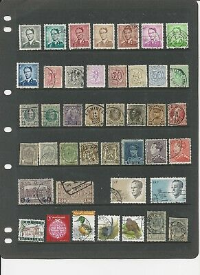 BELGIUM- COLLECTION OF USED STAMPS (4 PHOTOS) - #BEL3abcd