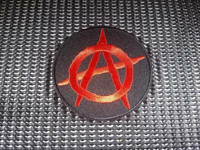 Anarchy Biker Patch Embroidered Sew Iron on Motorcycle soa a sons of