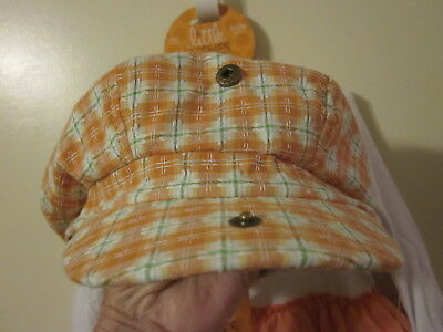 TWO Matching Little Wishes Brand Plaid Berets 6 to 18 Months New with Tags CUTE!