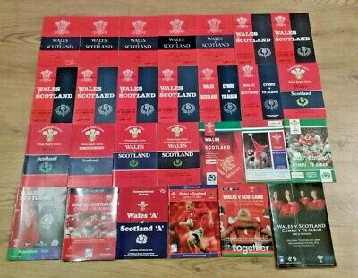 Wales v Scotland Rugby Union Programmes 1948 - 2012