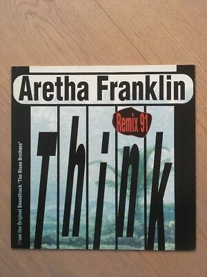 Vinyl Aretha Franklin Think 12 Inch Remix 1991 From the Blues Brothers OST