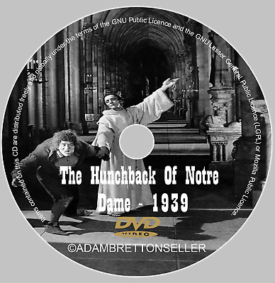The Hunchback Of Notre Dame Dvd - (1939) - Charles Laughton - Maureen O'hara