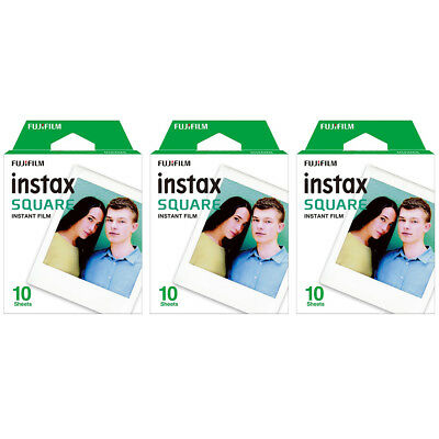 3 Packs 30 Instant Photos FujiFilm Instax SQUARE Film Polaroid Camera For SQ20