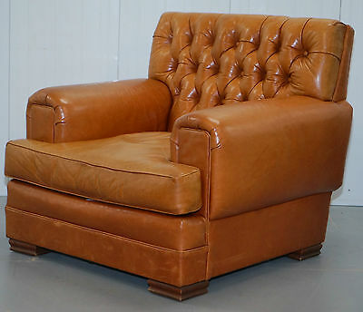 Rrp £7000 Ralph Lauren Armchair Aged Tan Brown Vintage Distressed Leather