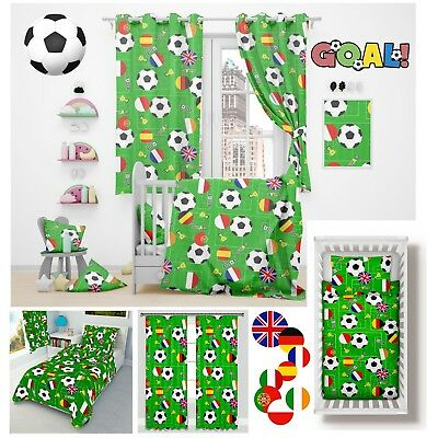 FOOTBALL BOYS Cot/ Cot bed Bedding set for Baby Toddler 100% cotton