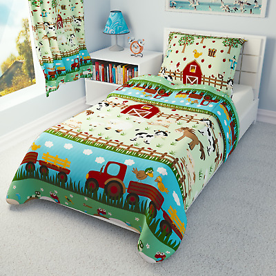 FARM ANIMALS BEDDING Girls, Boys Cot Bed Toddler - duvet covers curtains bumper